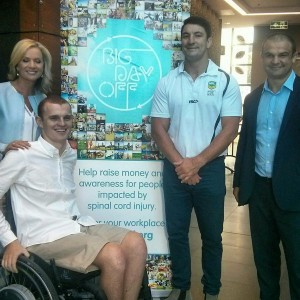 Sandra Sully, Alex McKinnon, Nathan Hindmarsh and Adam Freier at the Big Day Off launch