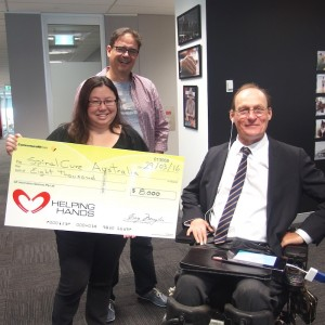 $8000 for spinal cord injury research