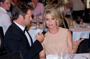 Rodger Corser and Sandra Sully at the SpinalCure Oscars Luncheon 2013