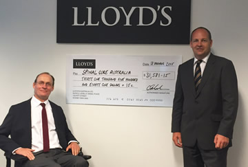 Lloyds raise over $31000 for spinal research