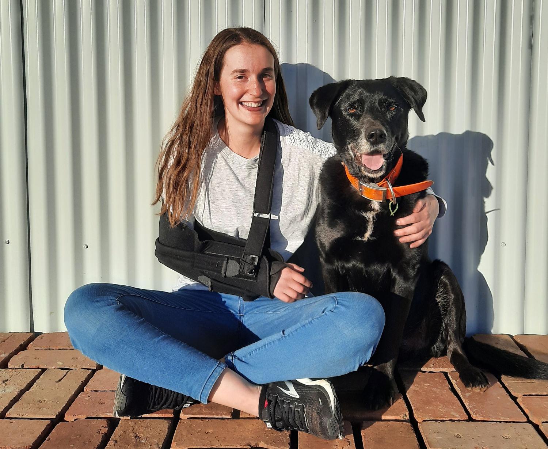 Emma Mickle and faithful companion