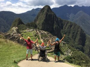 Philip and friends at the top of Macchu Pichu