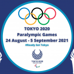 Olympics rings with Tokyo 2020 Paralympic Games