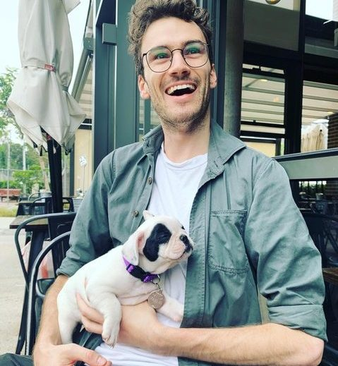 Tom Elphick with his dog