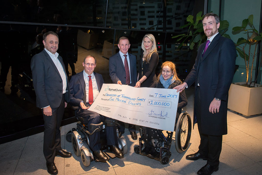 SpinalCure's $1million donation to UTS