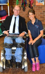SpinalCure's Duncan Wallace with Camila Quel de Oliveira