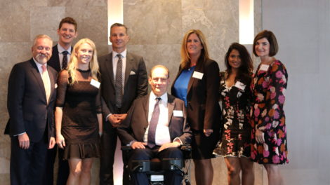 SpinalCure Australia's CEO Duncan Wallace after his inspiring presentation.