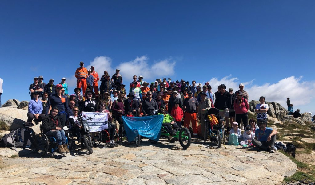 on top of Mount Kosciuszko for SpinalCure
